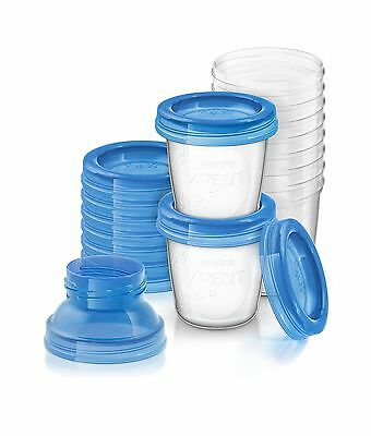 Philips AVENT Breast Milk Storage Cups 6 Ounce (Pack of 10) - NEW FREE SHIPPING