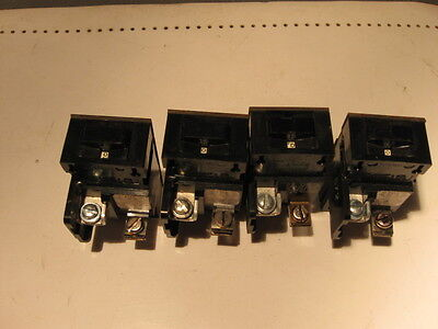 4 Pushmatic Bulldog Circuit Breaker 1 Pole 15 Amp 1P15 & Bus Screws Used Tested