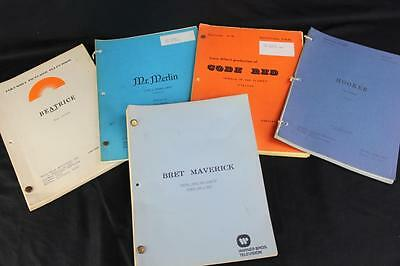 Original 1980s TV Show Scripts (5) Bret Maverick, Hooker, Mr. Merlin, Code Red+