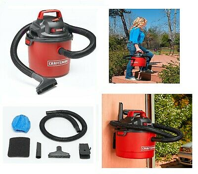 Craftsman Vacuum Cleaner Wet Dry Portable Wall Mount 2.5 Gallon 2Peak Garage Car