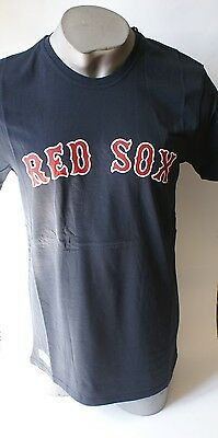 New Era MLB Boston Red Sox Logo Shirt Team Apparel Navy Men's Crew Neck T-Shirt