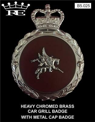 Royale Heavy Chromed Brass Car Badge - BRITISH AIRBORNE FORCES - B5.025 SUPERB