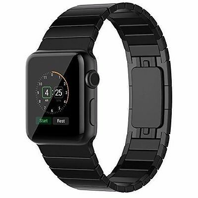 Apple Watch Band Stainless Steel iWatch Band Strap for Apple Metal Black 42mm