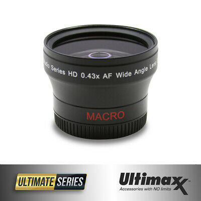 52mm 0.43x Wide Angle Lens by ULTIMAXX - Brand New!