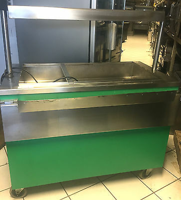 Mobile Stainless Steel Hot Cupboard / Bain Marie / Halogen Heated Pass