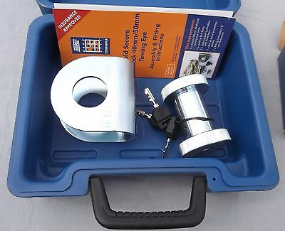 Stronghold Sold Secure Trailer 40/50mm Towing Eye Security Lock Hitchlock SH5420