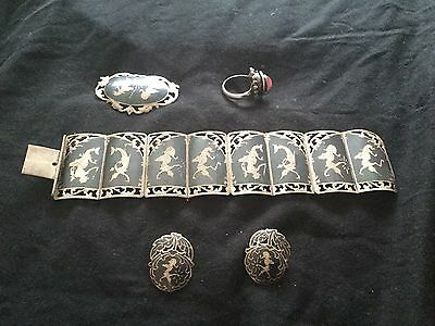 Antique Siamese Silver Approx 78 G