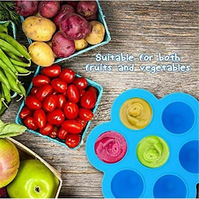 Baby Food Storage Freezer Trays Meal Reusable Containers Silicone Tray New LA