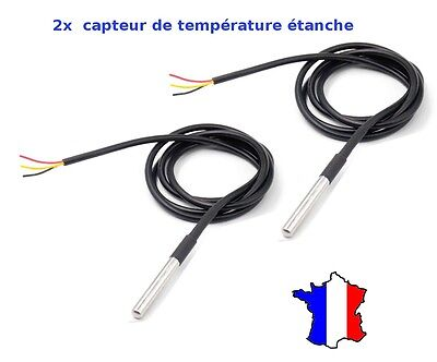 2x DS18B20 Dallas 1-Wire Digital Thermometer Etanche (Waterproof)