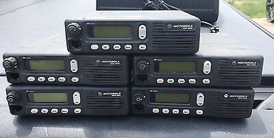 (Lot Of 5) Motorola MCS2000 M01HX+812W 800Mhz Two Way Radio