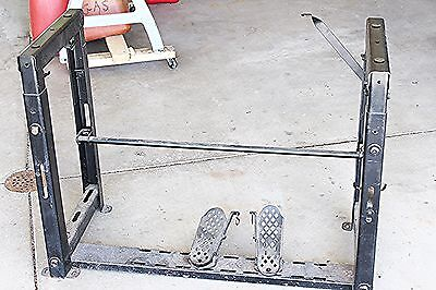 Vtg Singer Industrial Commercial Sewing Machine Table Frame & Pedals