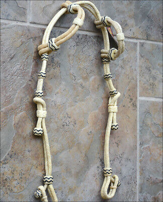 New Hilason Western Rawhide Leather Horse Double Ear Bridle Headstall