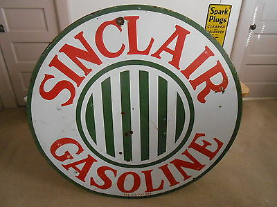 "Vintage Sign Sinclair Gasoline Single Sided Porcelain 48"" 1920's Original"
