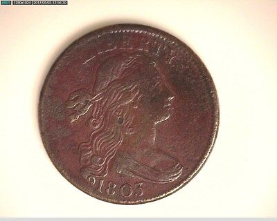 1803 Small Date, Small Fraction Draped Bust Copper Large Cent RED