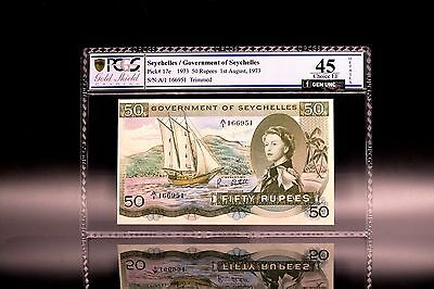 1973 Seychelles 50 Rupees 'SEX' Banknote PCGS 45 Pick-17 Choice Extremely Fine