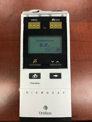 Oridion Microcap Handheld Capnograph measure Co2 , Calibrated *Biomed Tested*