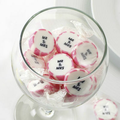 Just Married / Mr and Mrs Rock Sweets  - Wedding Favours - Sweetie Carts - CANDY