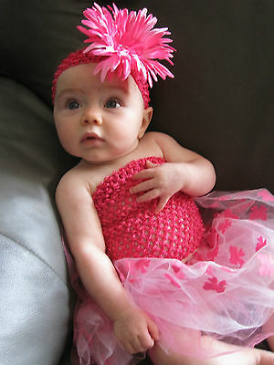 "Baby GIRL Infant Newborn 6"" SMALL CROCHET Tube TOP for Summer Tutu & Pettiskirt"