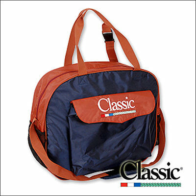 Classic Equine Single Compartment Basic Nylon Rope Bag Navy Rust