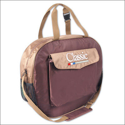 Classic Equine Single Compartment Basic Nylon Rope Bag Chocolate Tan