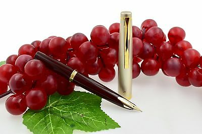 NEW Pilot E95s Burgundy & Ivory Colored with Gold Trim Fountain Pen 14k M Nib