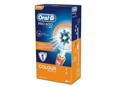 Oralb PRO 600 arancione cross-action