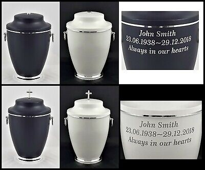 Casket Adult Urn for Ashes Memorial Cremation Funeral Personalised Inscription