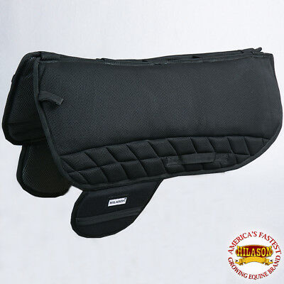 Hilason Western Treeless Saddle Pad Gel With Anti Slip - Black Ta100