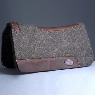 MADE IN USA HIGH QUALITY 100% WOOL FELT HILASON WESTERN  SADDLE PAD 31by32 1 in