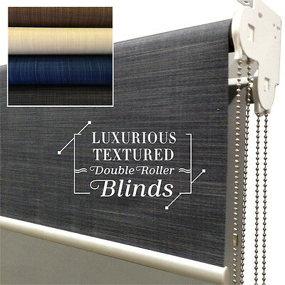 LUXURIOUS LINEN TEXTURED Day/Night  Roller Blinds 60-240cm (W)x 210cm (D)