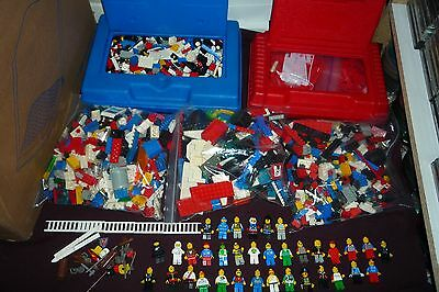Huge Vintage 80s-90s LEGO Lot OVER 10lbs 35 Mini Figures Space Knights & More