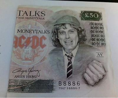 """AC/DC Money Talks 7"""" single with picture sleeve"""