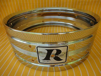 "1976 Vintage Rogers Dyna-Sonic 14""snare Drum Brass Shell Big R Badge Made In Usa"