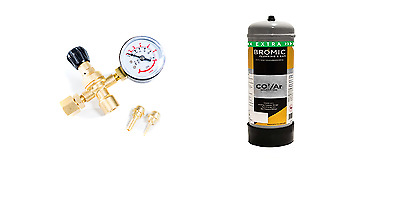 Disposable Gas Bottle Argon / Co2 - 2.2 Litre & Reg Combo Kit Mig Tig