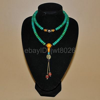 Ancient China natural The sea blue beads handmade  necklace