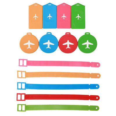 Fashion Silicone Travel Luggage Tags Baggage Suitcase Bag Labels Name Address