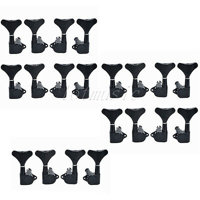 10L10R Black Sealed Guitar Buttons Bass Tuners Tuning Pegs Machine Heads Keys