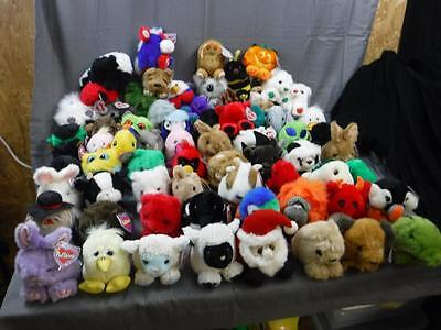 Large Puffkins Collection Puffkin Lot of 68 Plush Figures toys retired w/ tags