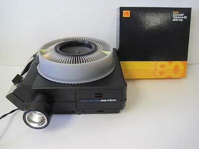 Kodak Carousel Projector 4600 Slide Viewer With Remote & Instructions Tray