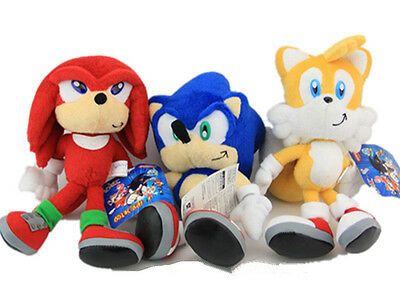 Sonic the Hedgehog Soft Plush Tails Toy Knuckles Stuffed Doll Gift Collectiion