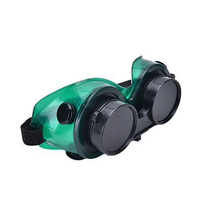 1x Welding Goggles With Flip Up Darken Cutting Grinding Safety Glasses Green