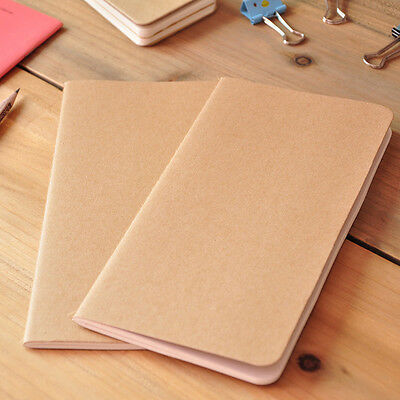 A5 Craft Paper Graffiti Journal Diary Note Book Blank Page Planner Stationery