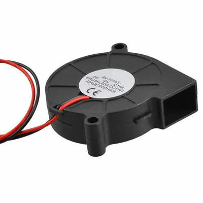 Cooling Fan Blower 2 Pin Wires 5015S 12V 0.14A 50x15mm DC Black Brushless Cooler