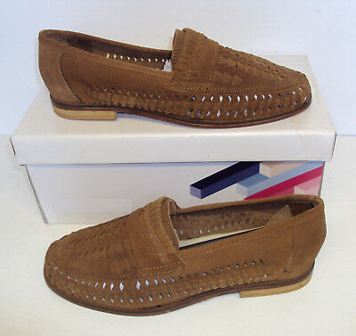 Men's Stoke Rust Suede Slip On Leather Casual Shoes New Sizes UK 6 7 8 9 10 12