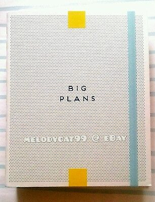 BRAND NEW kikki.K Kontrast Hard Cover Time Personal Planner Diary - BIG PLANS