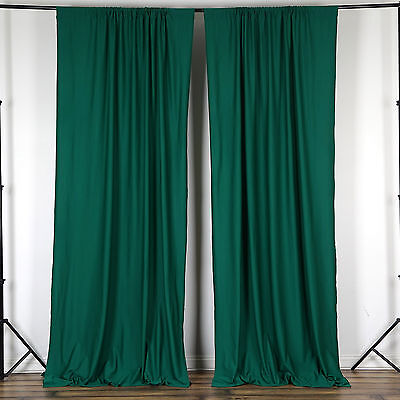 HUNTER GREEN Polyester Professional BACKDROP CURTAINS 10 x 10 ft Decorations