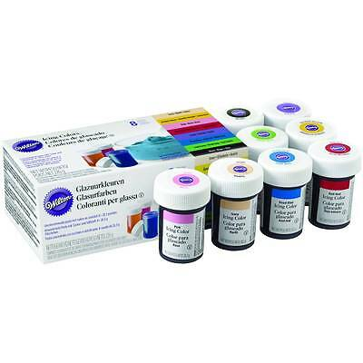 Wilton 8 Icing Colour Concentrated Gel Paste for Cake & Cupcake Decorating