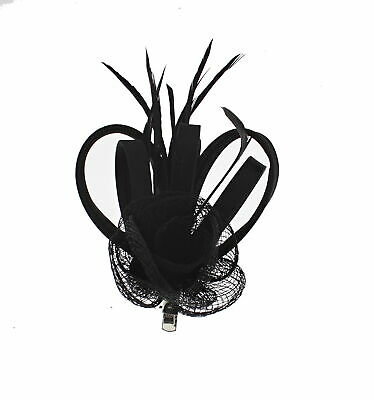 Zac's Alter Ego® Colourful Net Fascinator with Ribbons & Feathers on Clip & Pin