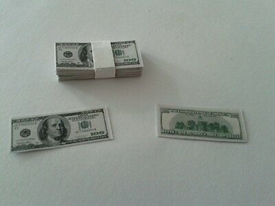 1:6 Custom Made 5 Stack of 100 $ Money For Action Figure Diorama