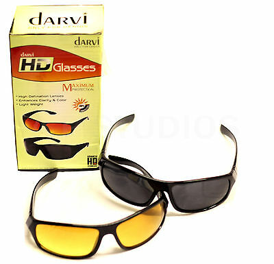 New Glasses Optic Hd Night Day Vision Driving Wrap Around Anti Sun Glare